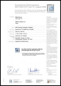 SL20-22MP Zertifikat DIN EN 1279-2